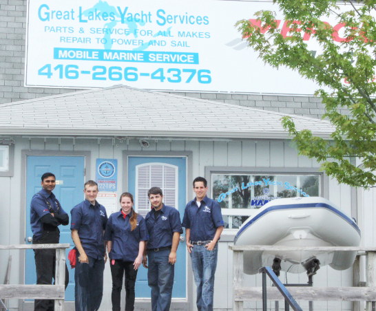 image of the Certified Boat Mechanics at Great Lakes Yacht Services